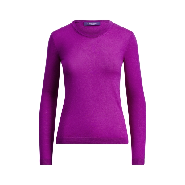 Ralph Lauren Cashmere Crewneck Sweater Amethyst Xs
