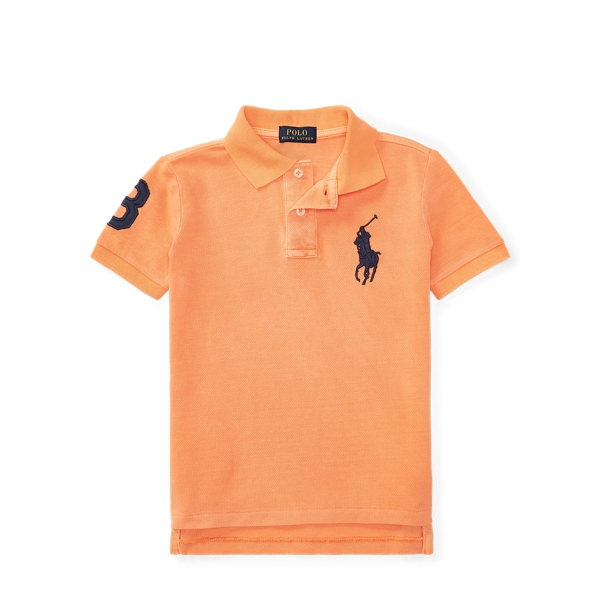 Ralph Lauren Cotton Mesh Polo Shirt Orange 2T