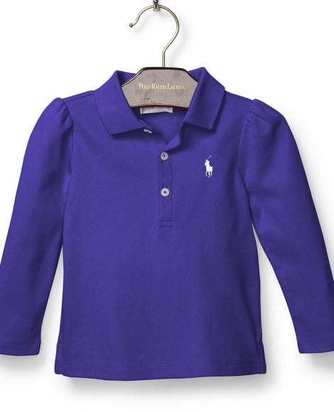 Cotton Long-Sleeve Polo Shirt