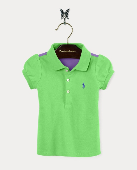Color-Block Stretch Polo Shirt