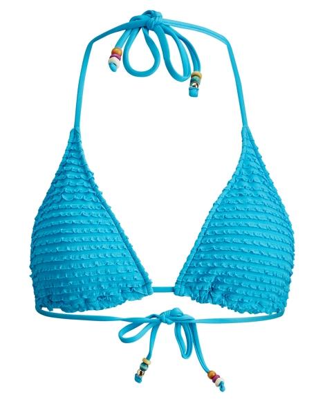Ruffled Triangle Bikini Top