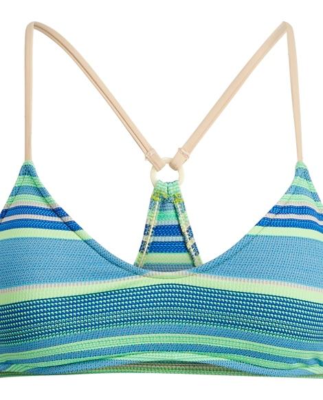 Striped Racerback Bikini Top