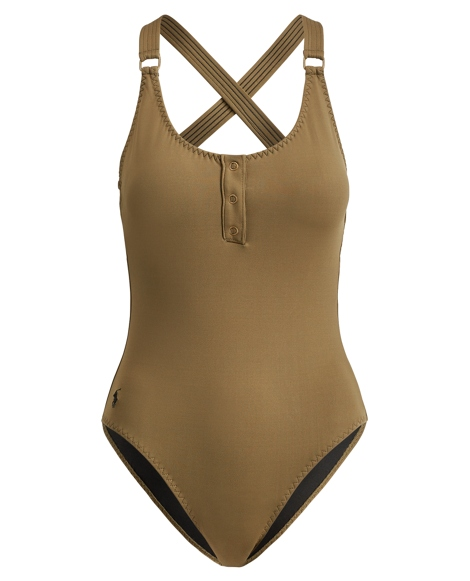 Henley One-Piece Swimsuit