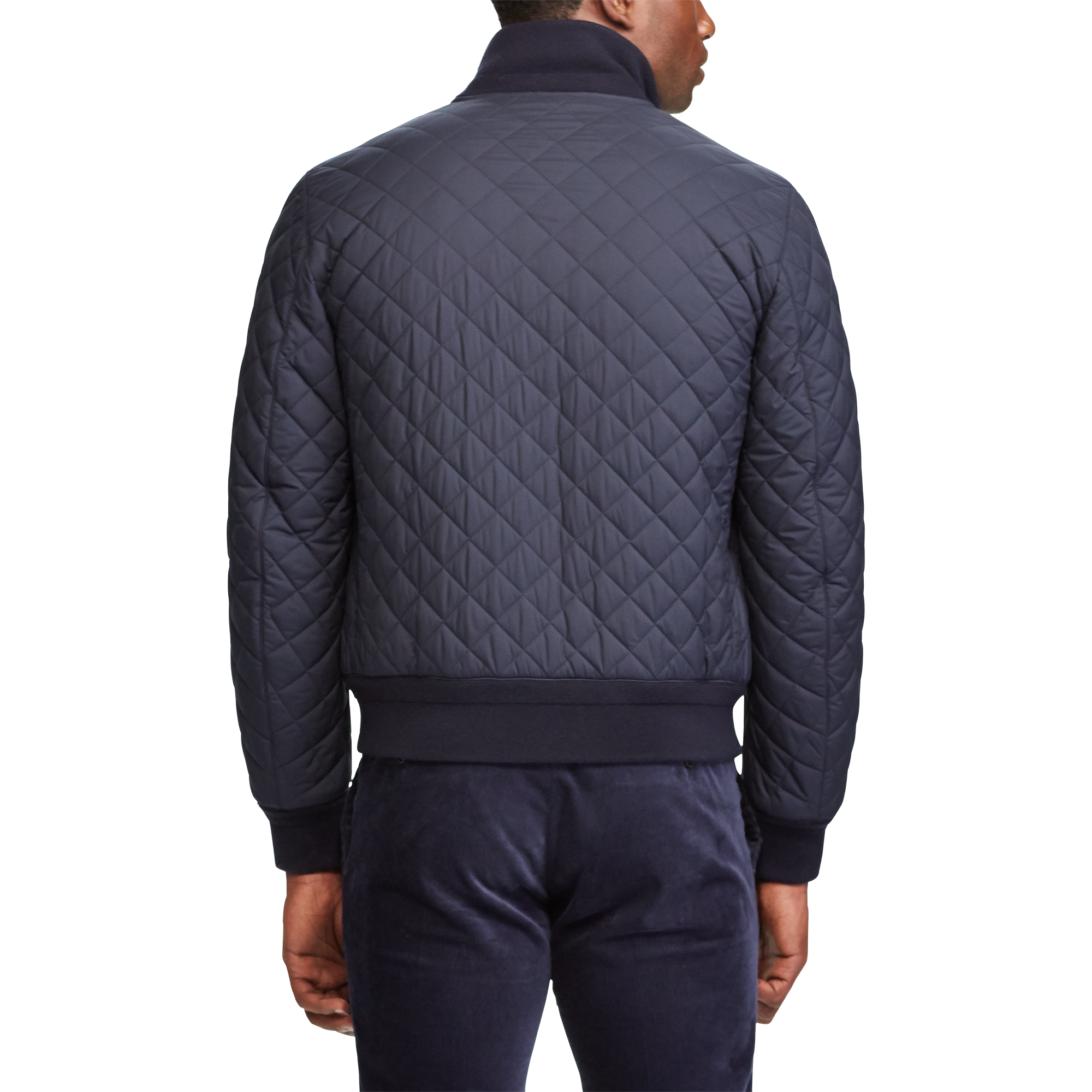 lyst ralph jacket mens iconic vest quilt for lauren navy polo men quilted clothing s blue in