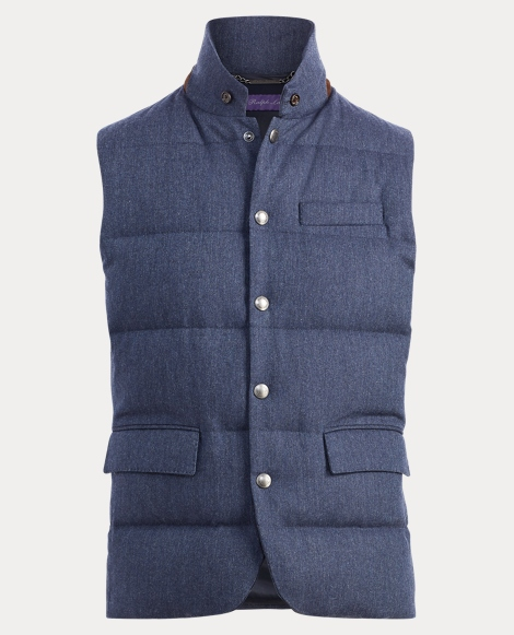 Quilted Wool Down Vest