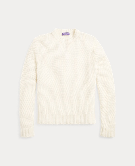 Seed-Stitched Cashmere Sweater