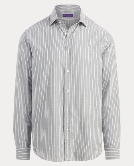 Striped Cotton Twill Shirt