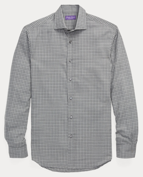 Windowpane Cotton Sport Shirt