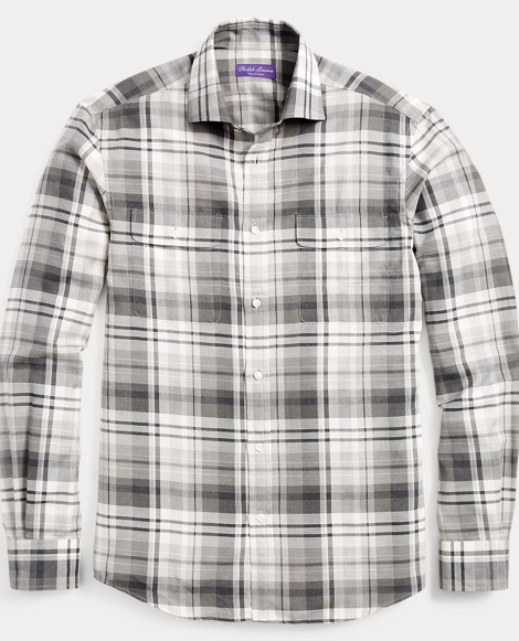 Plaid Cotton-Cashmere Shirt