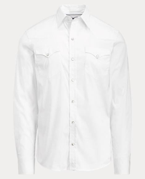 Stretch Poplin Western Shirt