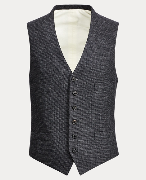 Wool-Cashmere Twill Vest