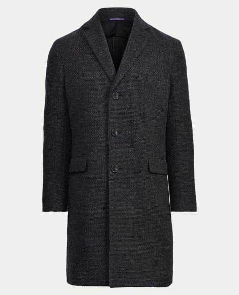 Basket-Weave Wool Topcoat