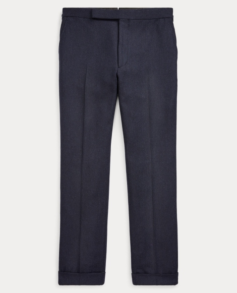 Straight Wool-Cashmere Trouser