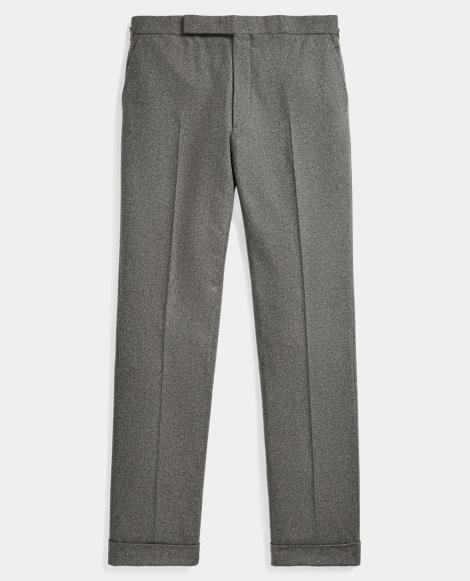 Pleated Wool Flannel Trouser