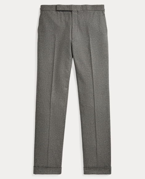 Pleated Wool Flannel Trouser