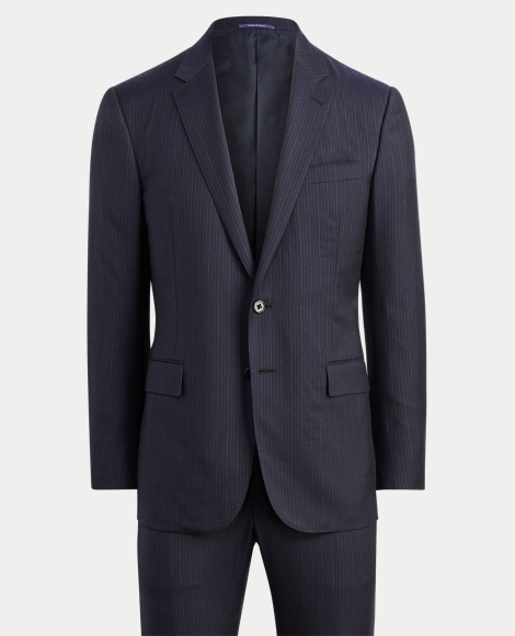 Striped Wool-Silk-Twill Suit