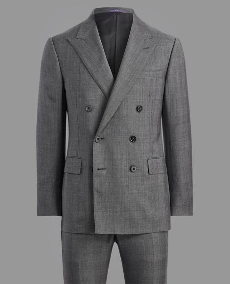 Glen Plaid Wool Twill Suit