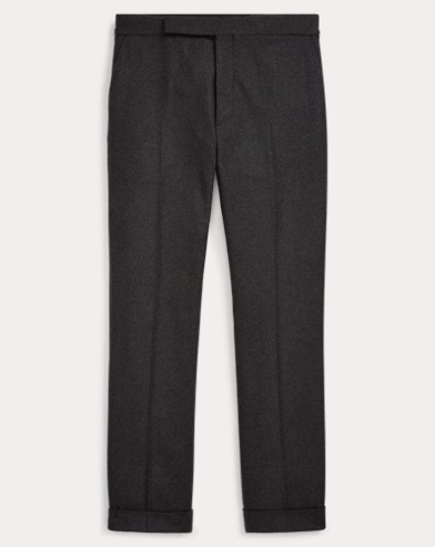 Straight Wool Flannel Trouser