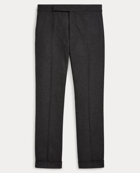 Straight Wool Flannel Trouser