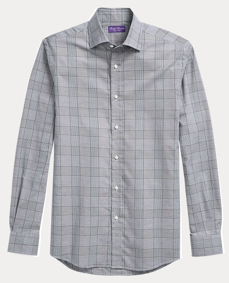 Glen Plaid Cotton Dress Shirt