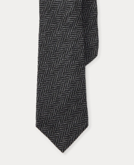 Cashmere-Silk Herringbone Tie