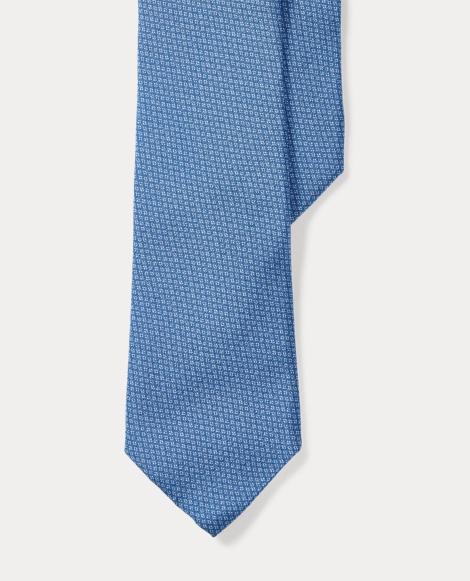Diamond-Print Silk Narrow Tie
