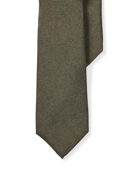 Nailhead-Print Silk Narrow Tie