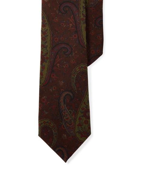 Paisley Silk Crepe Narrow Tie