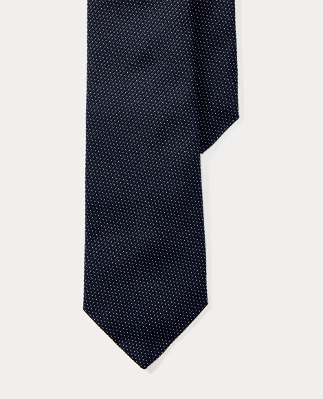 Pin Dot Silk-Wool Narrow Tie