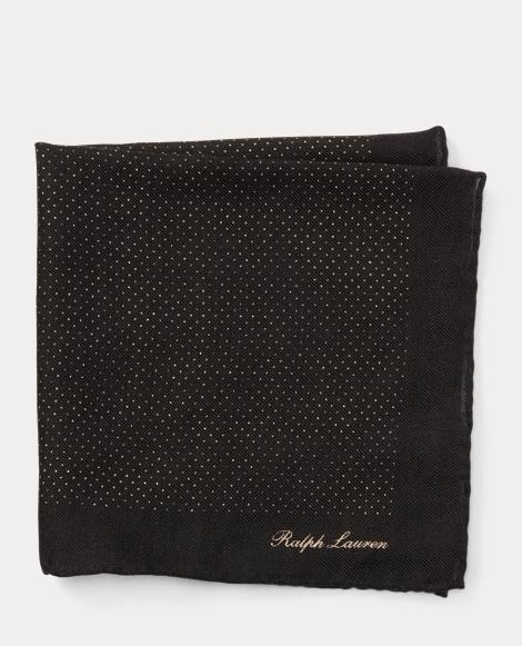 Pin Dot Cashmere Pocket Square