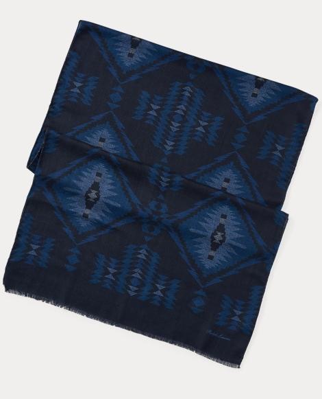 Southwestern-Print Wool Scarf