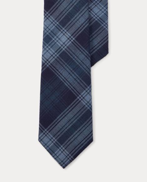 Plaid Cotton-Cashmere Tie