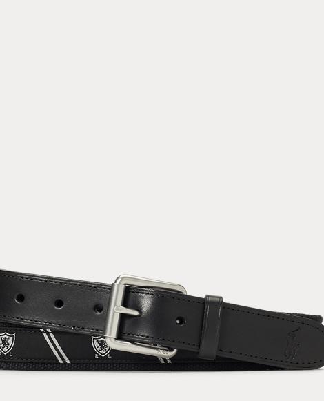 Shield Motif Web Belt