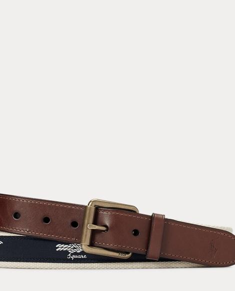 Knot-Overlay Webbed Belt