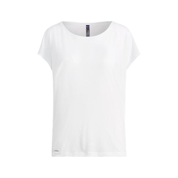 Ralph Lauren Drapey Jersey T-Shirt Pure White Xs