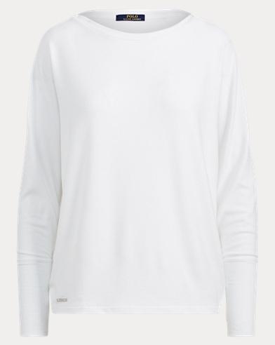 Drapey Jersey Long-Sleeve Top