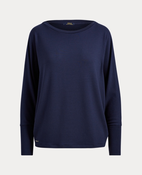 Drapey Jersey Long-Sleeve Top