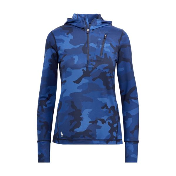 Ralph Lauren Camo-Print Hooded Pullover Navy Camo M