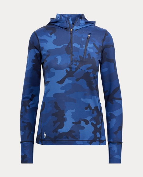 Camo-Print Hooded Pullover