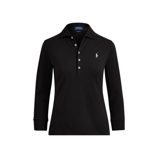 Ralph Lauren Slim Stretch Mesh Polo Shirt Polo Black/White Pp Xs
