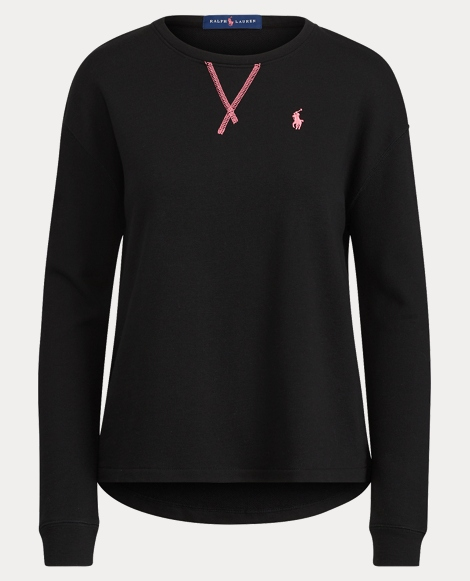 Pink Pony Terry Crewneck Top