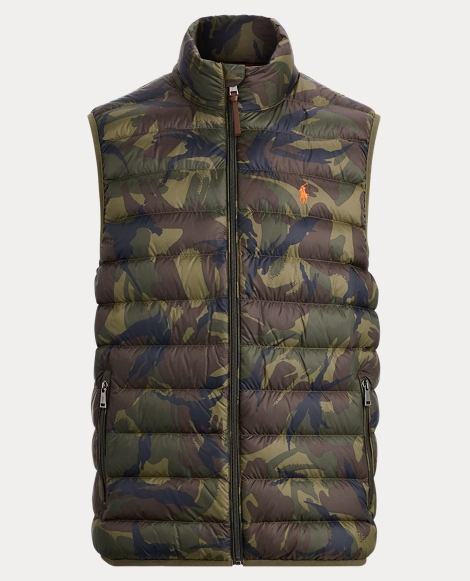 Camo Packable Down Vest