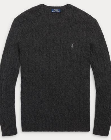 Cable Merino-Cashmere Sweater