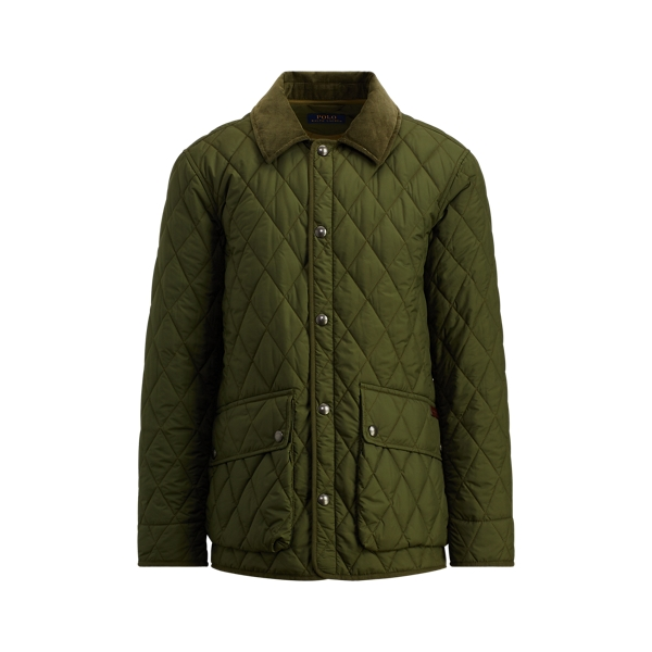 Ralph Lauren The Iconic Quilted Car Coat Fall Loden M