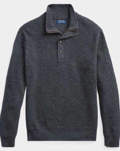 Waffle-Knit Merino Sweater
