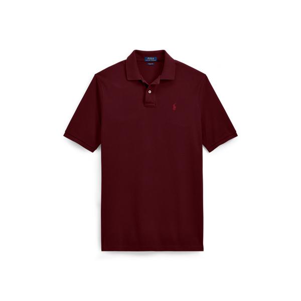 Ralph Lauren Classic Fit Mesh Polo Shirt Fall Burgundy Xs