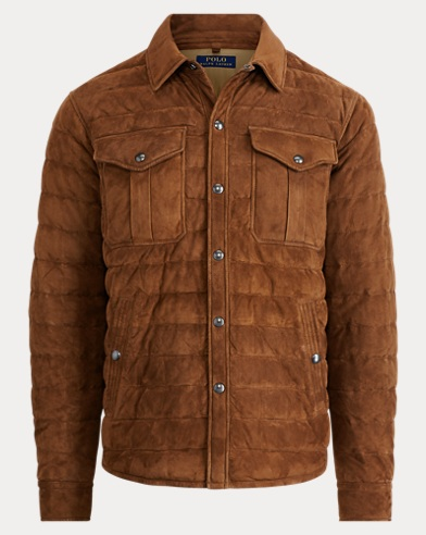 Suede Down Shirt Jacket