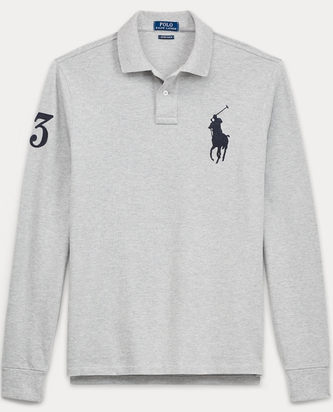Slim Fit Long-Sleeve Polo