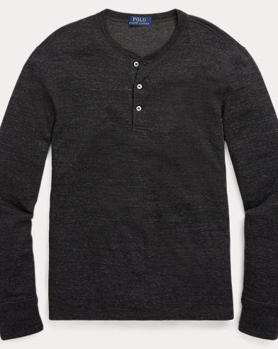 Cotton-Blend Henley Shirt