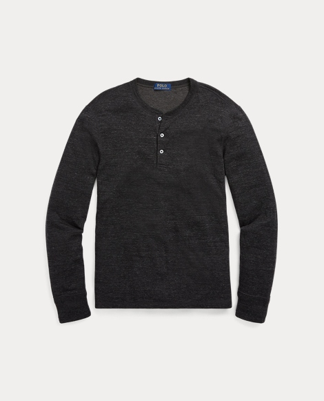 Cotton-Blend Henley Shirt
